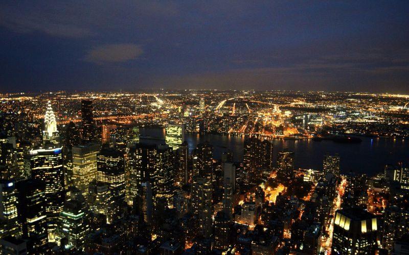 Empire State Building vedere incredibila la apus