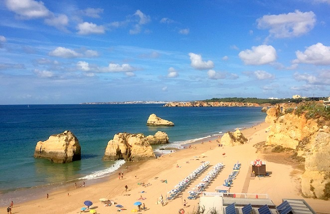Plaja da Rocha Algarve Portugalia