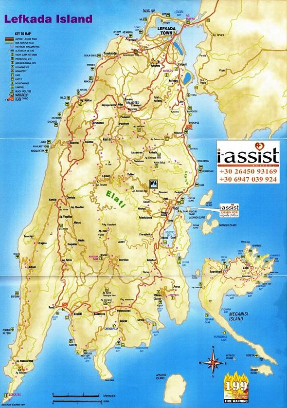 Harta Insula Lefkada Grecia Blog Calator 2 Blog Calator