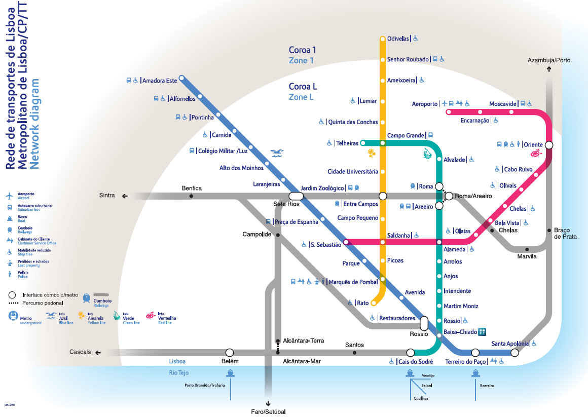 harta metrou lisabona city break bani puțini
