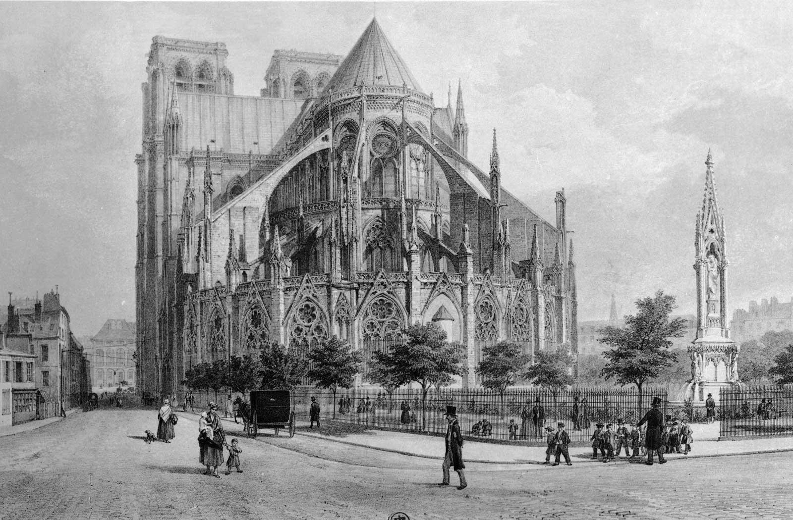 catedrala de notre dame paris inainte